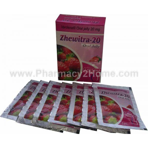 Zhewitra Oral Jelly (Vardenafil 20Mg)